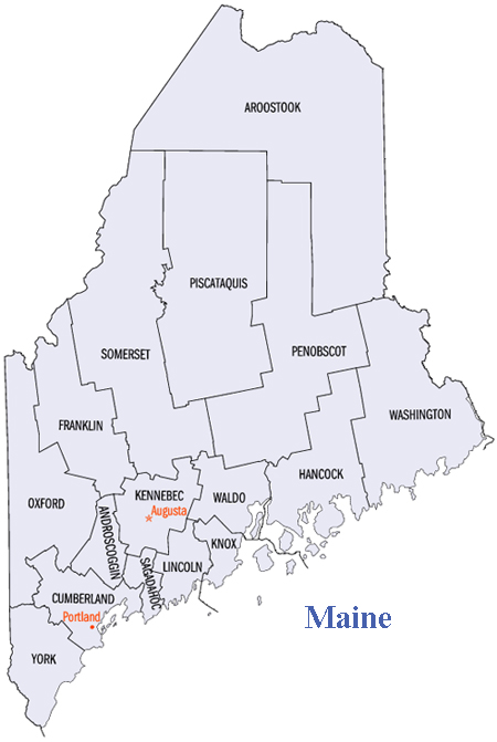 Anything Real Estate Maine Counties - Maine counties map